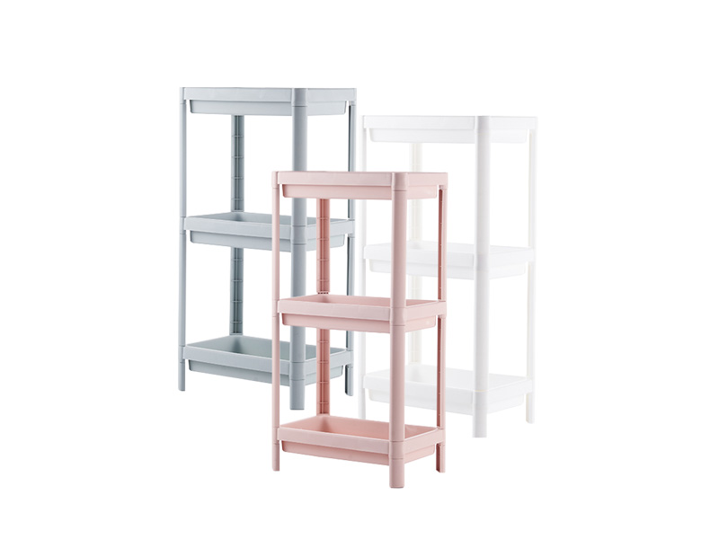 Three layers plastic shelf  (hr0406)