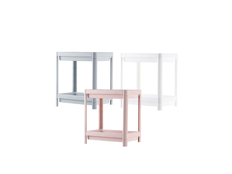 Two layers plastic shelf  (hr0405)