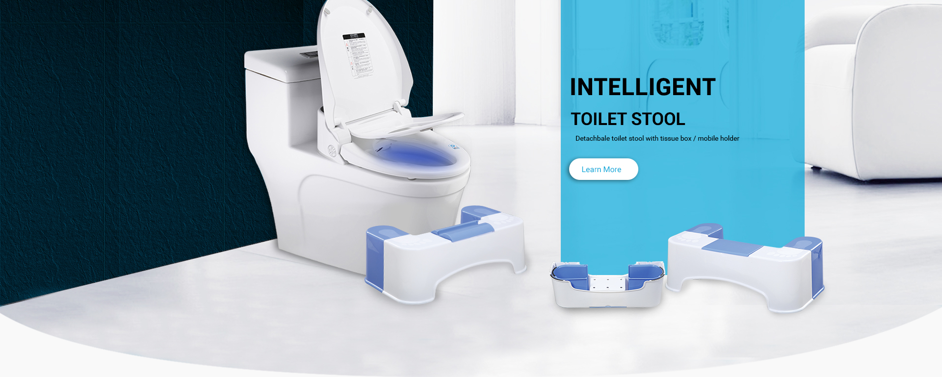 Toilet ottoman optimal height and toilet selection skills