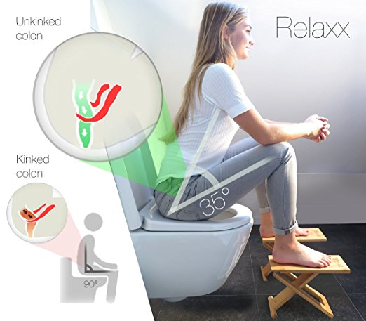 The correct posture for going to the toilet may really need a toilet stool