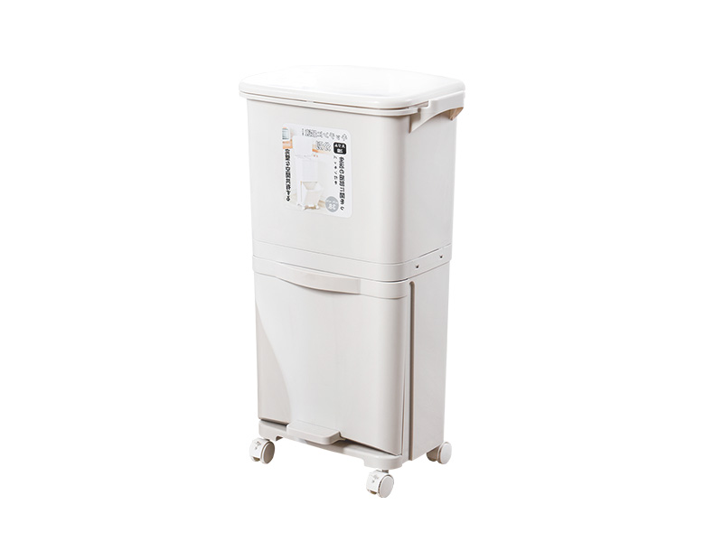 Two layers classified dustbin (38L) (hr0458)