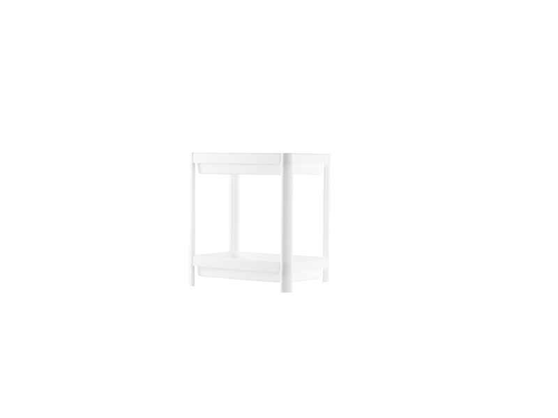 White two layers plastic shelf  (hr0405)
