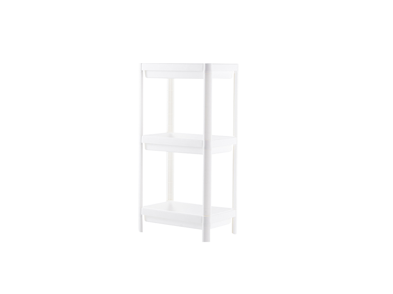 White three layers plastic shelf  (hr0406)