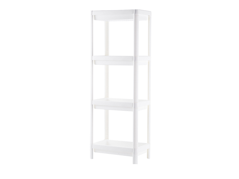 White four layers plastic shelf  (hr0407)